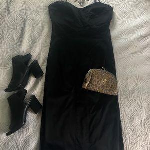 Little Black Dress XOXO brand satin like material